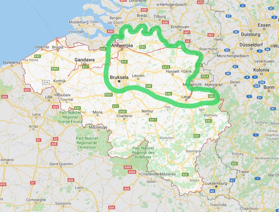 Belgia Trasy